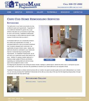 Trademark Professionals Bathrooms page