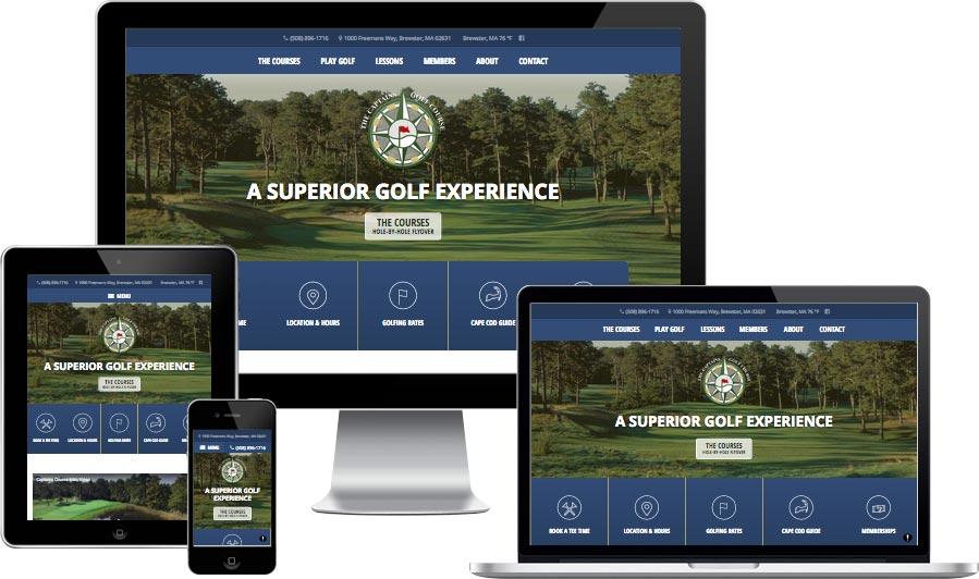 Cape Cod golf course website design