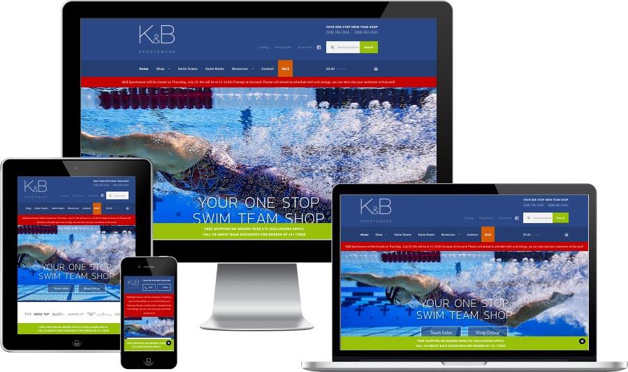 Sports eCommerce website design
