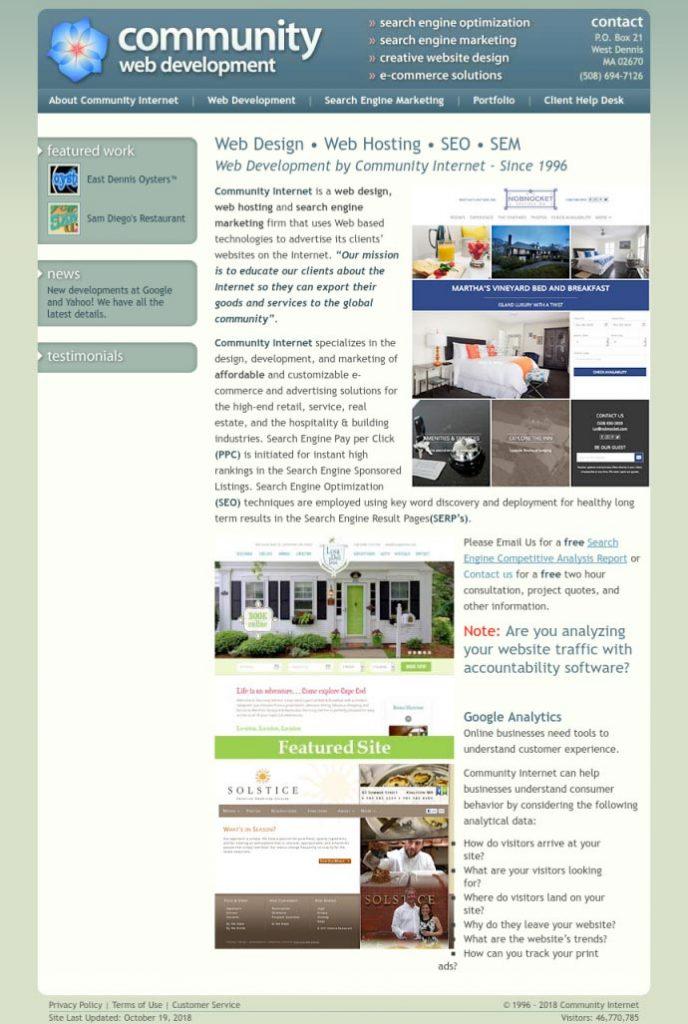 The old comminternet.com website
