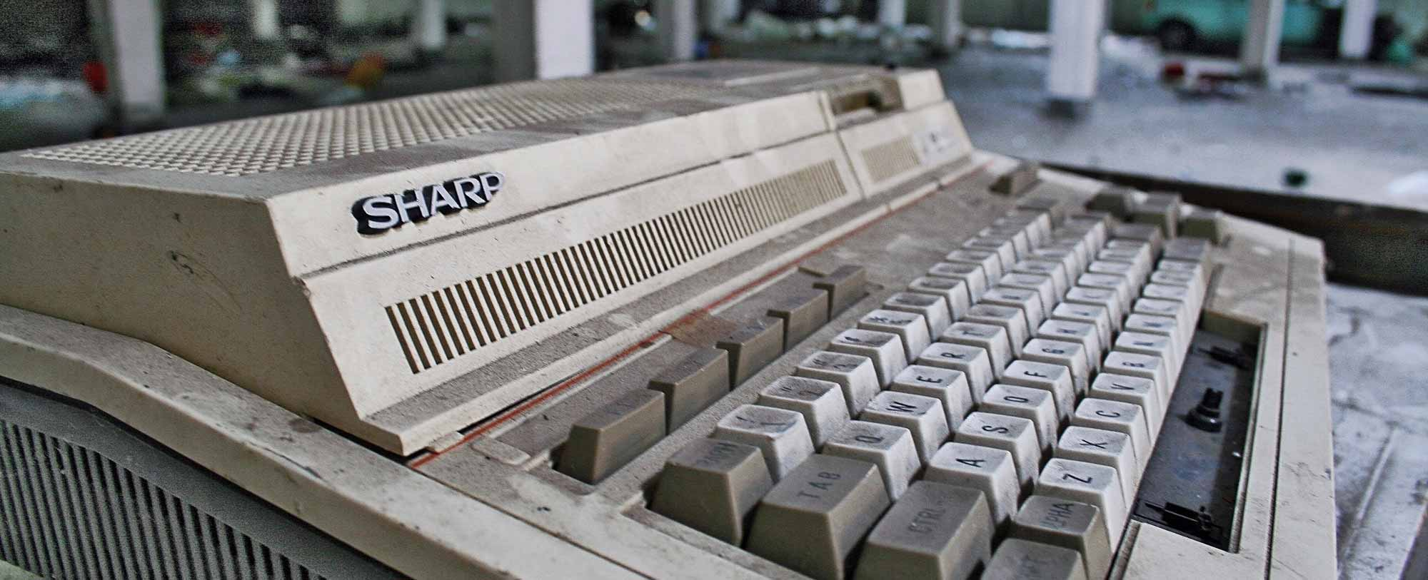 Old broken down keyboard