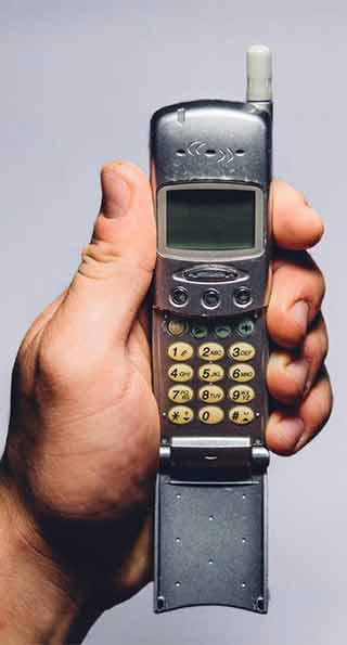 Old outdated cell phone