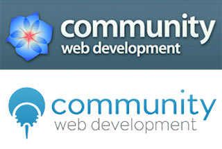 Comparison of Community Web Development's logo before and after rebranding